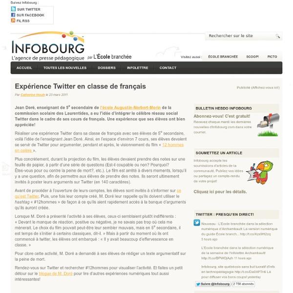 Expérience Twitter en classe de français
