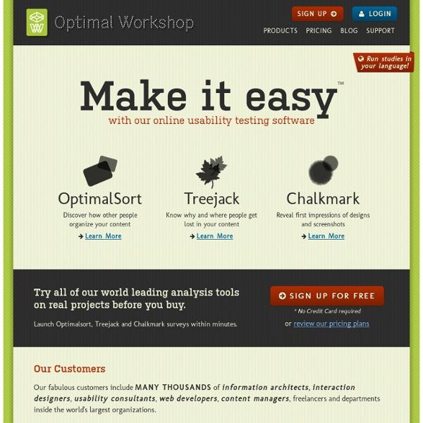 Optimal Workshop