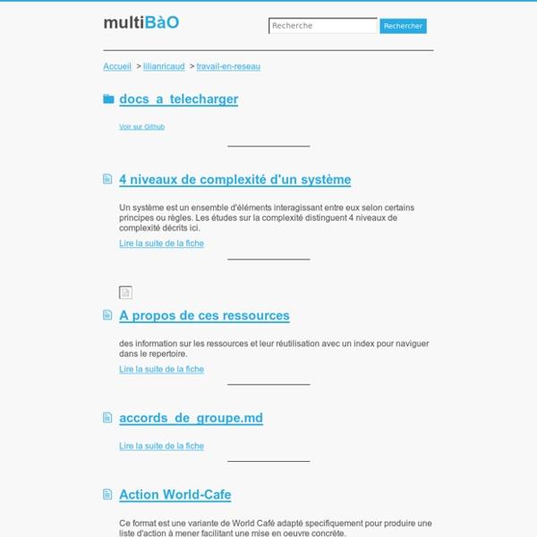 Multibao, l'Open Bar des expériences et des pratiques collaboratives