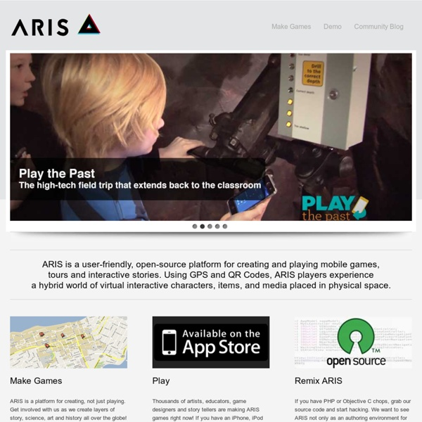 ARIS - Mobile Learning Experiences - Creating educational games on the iPhone