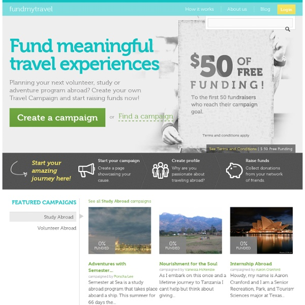 Fund Meaningful Travel Experiences