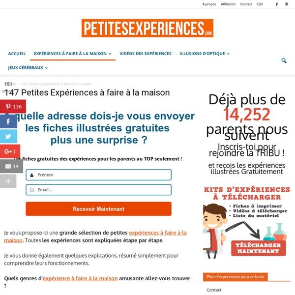 TOP 147 Des Expériences à Faire à la Maison
