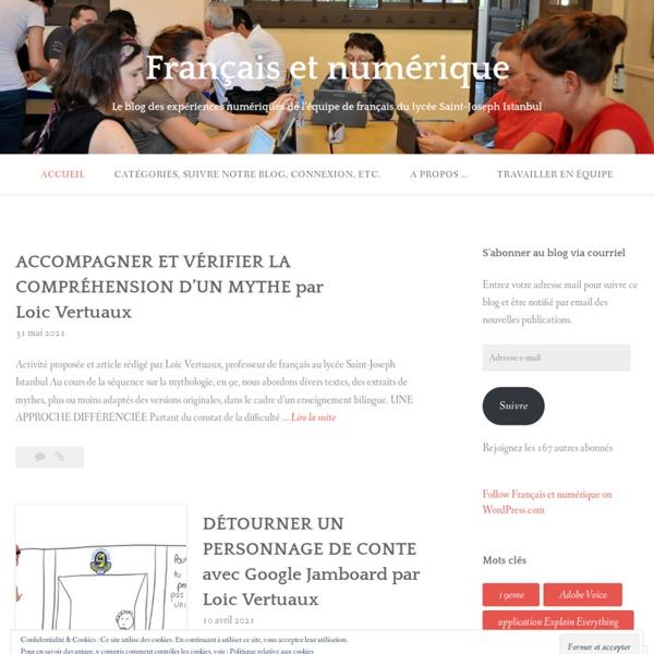 Le blog des expériences numériques de l'équipe de français du lycée Saint-Joseph Istanbul