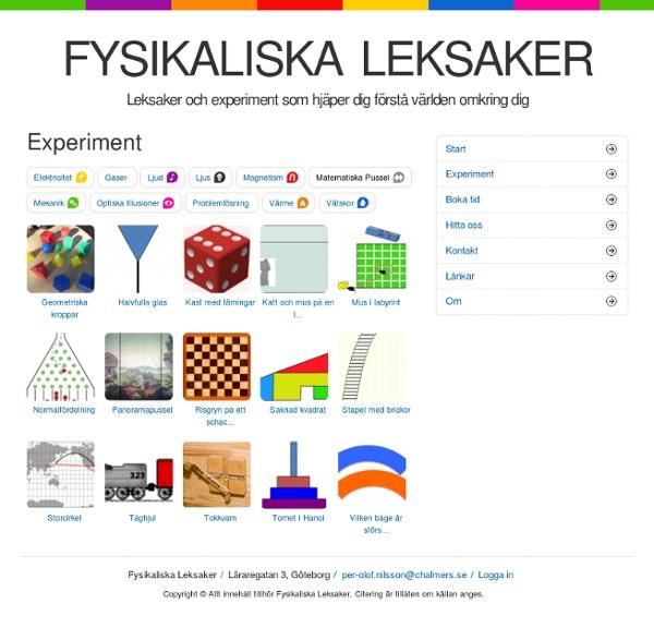 Fysikaliska Leksaker -Matematiska pussel