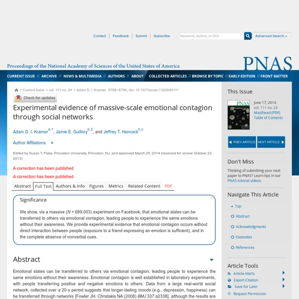 Experimental evidence of massive-scale emotional contagion through social networks