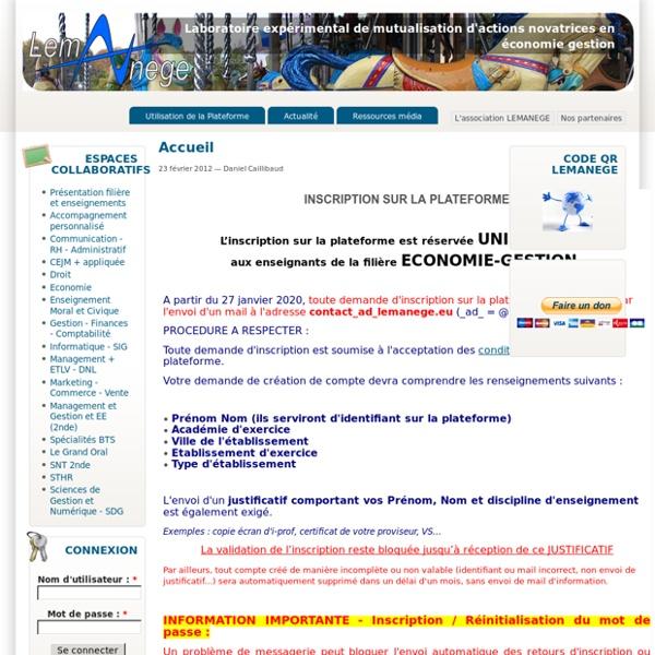 Laboratoire expérimental de mutualisation d'actions novatrices en économie gestion