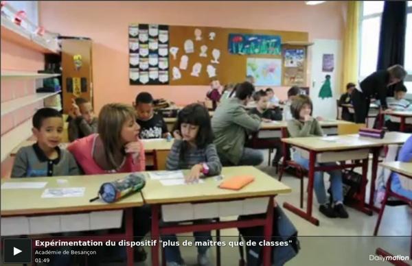 """Expérimentation du dispositif """"plus de maîtres que de classes"""""""