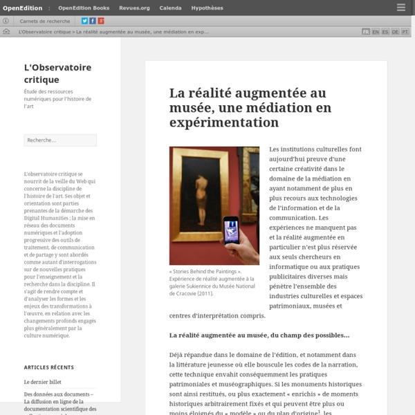 La réalité augmentée au musée, une médiation en expérimentation