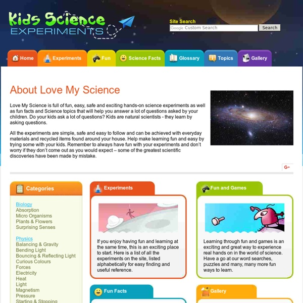 Fun science experiments and project ideas for kids - educational, exciting and safe