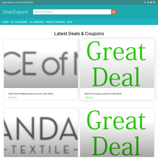 Deal Expert - Coupons, Reviews & Promo Codes