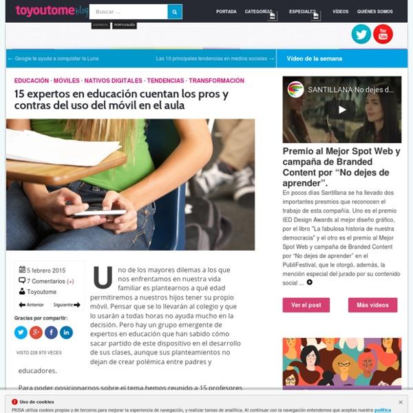 15 expertos en educación cuentan los pros y contras del uso del móvil en el aula