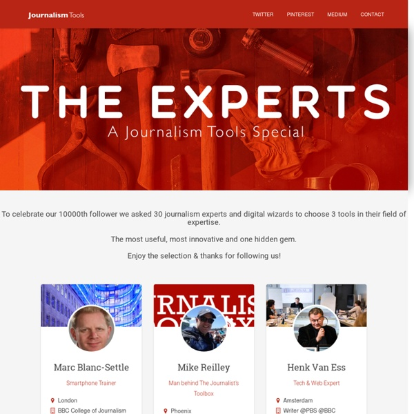 The Experts: A Journalism Tools Special