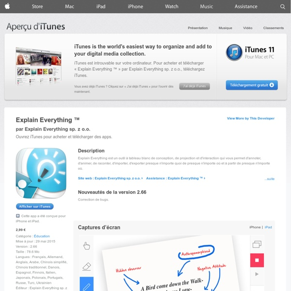 Explain Everything ™ pour iPhone, iPod touch et iPad dans l'App Store sur iTunes