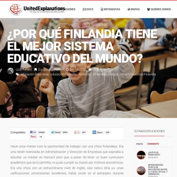 ¿Por qué Finlandia tiene el mejor sistema educativo del mundo?