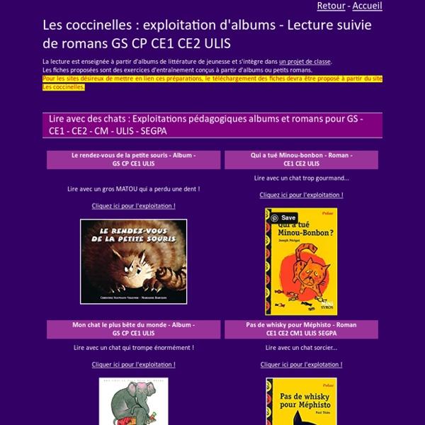 Exploitation d'albums et lectures suivies de romans GS CP CE1