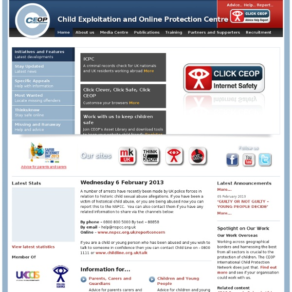 Child Exploitation & Online Protection Centre - internet safety - CEOP