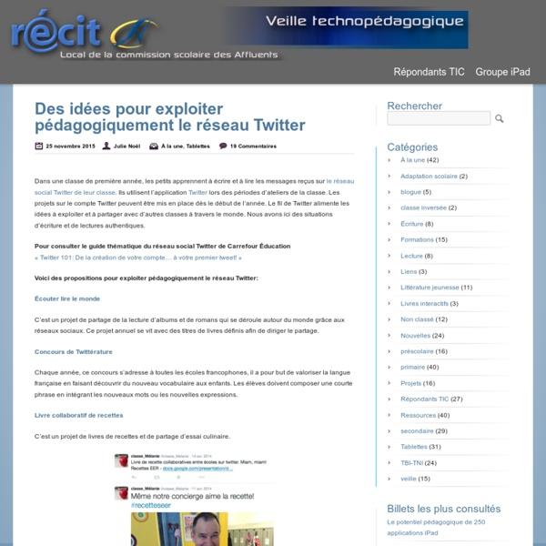 Des idées pour exploiter pédagogiquement le réseau Twitter