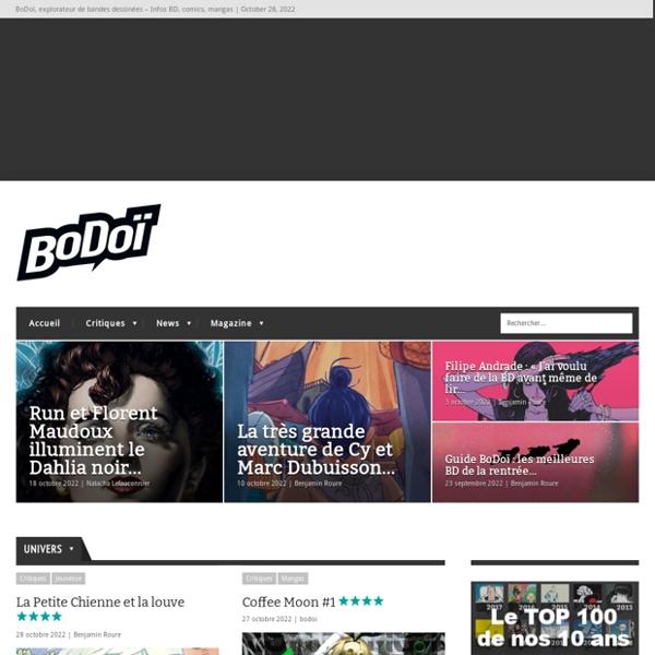 BoDoï, explorateur de bandes dessinées - Infos BD, comics, mangas