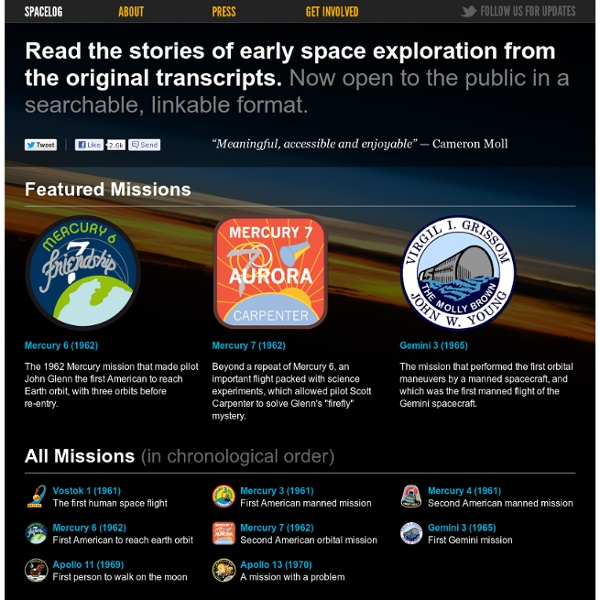 Spacelog: space exploration stories from the original transcripts