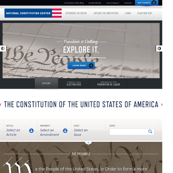 Explore the Constitution