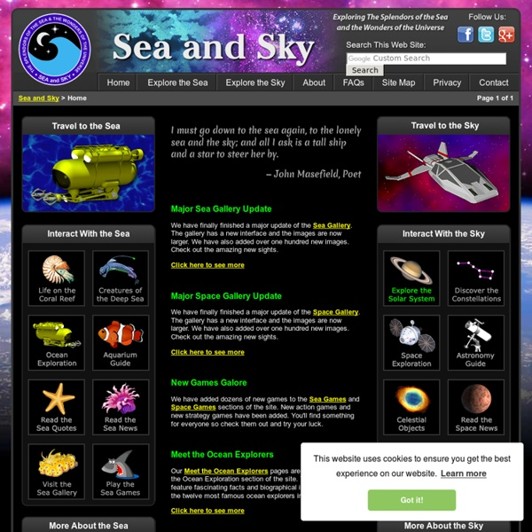 Sea and Sky - Explore the Oceans Below and the Universe Above