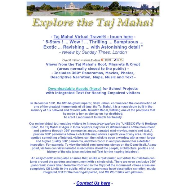 """Explore the Taj Mahal virtual tour - """"5_STARS!"""" -SundayTimes_London"""