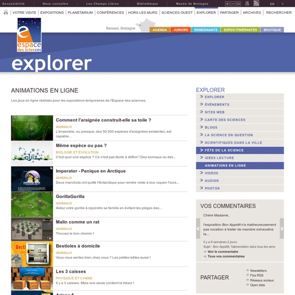Explorer - Animations en ligne