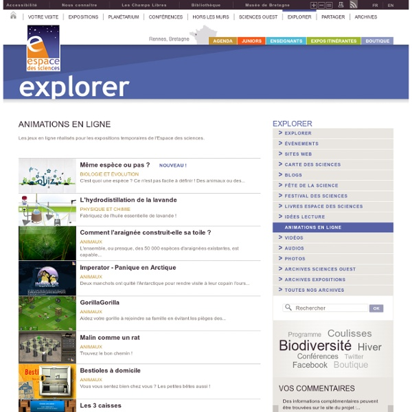 Explorer - Animations en ligne