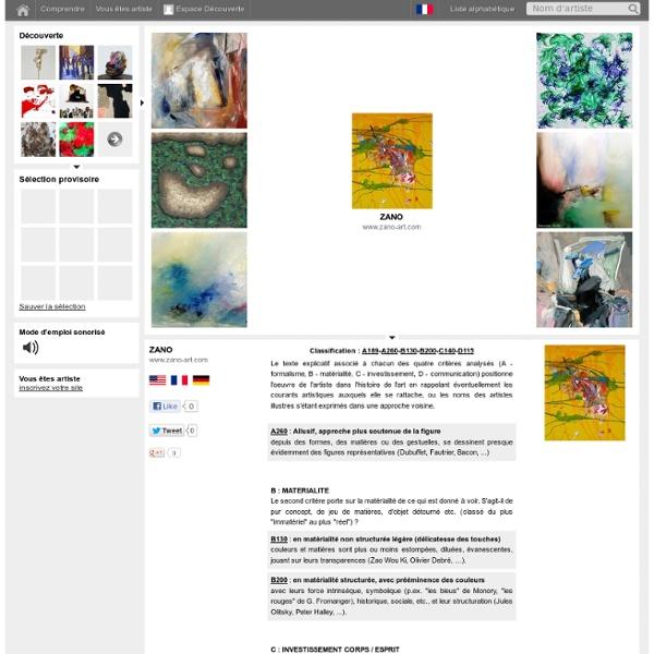 Visual Arts Explorer - Le moteur de recherche des arts visuels - ZANO