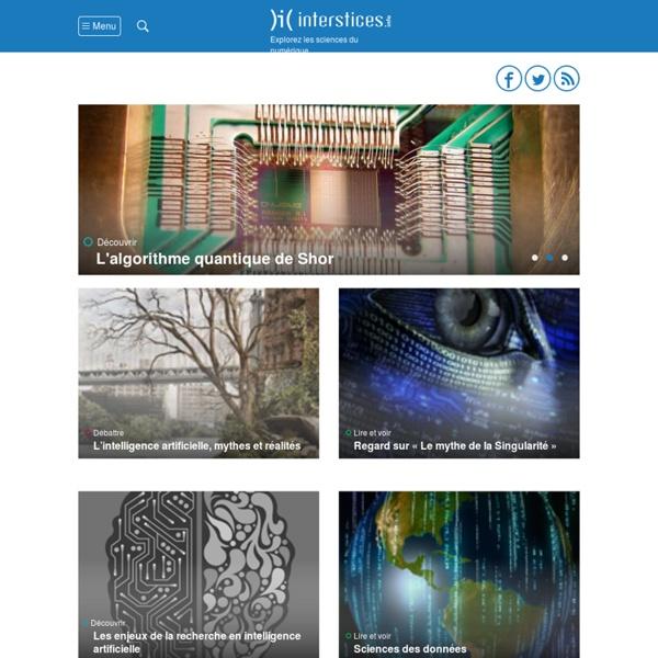 Interstices > Explorez les sciences du numérique