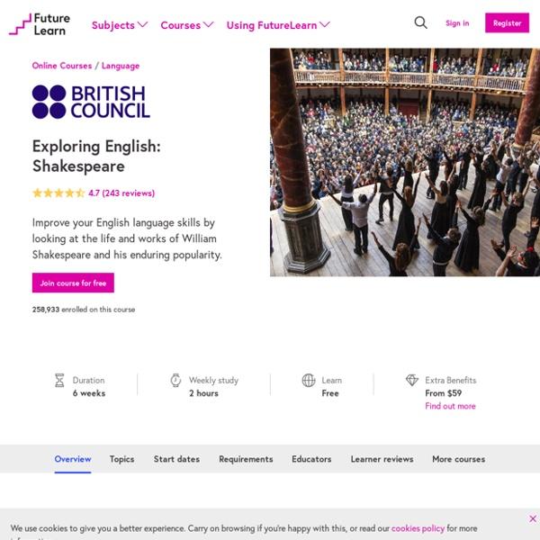 Exploring English: Shakespeare - Online Course
