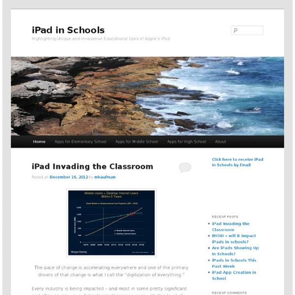 Exploring the impact of Apple's iPad on schools & schooling. - Part 1