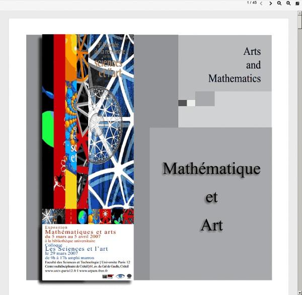 Expo -l'art plastique à l'art mathématique-