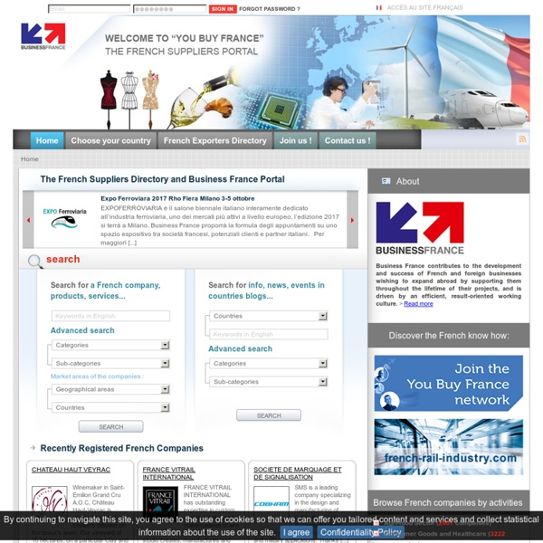 French exporters directory : products, companies and manufacturers
