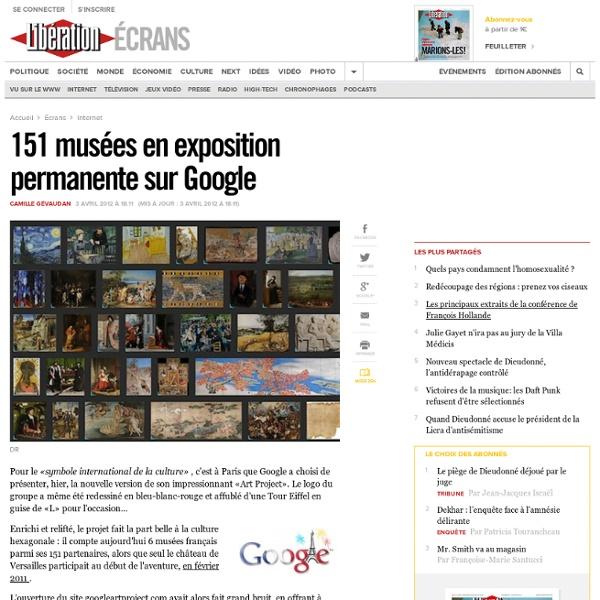 151 musées en exposition permanente sur Google