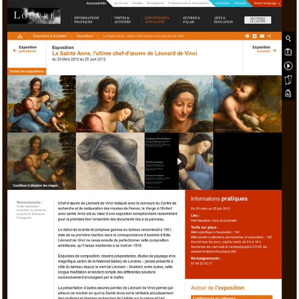 La Sainte Anne, l'ultime chef-d'œuvre de Léonard de Vinci