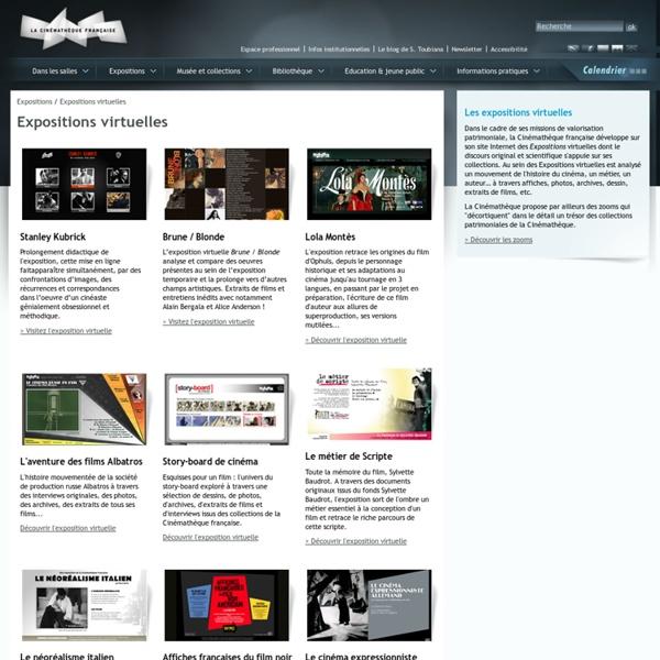 RUB. SITE La Cinémathèque française : expositions virtuelles