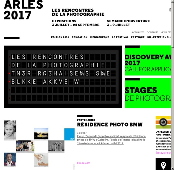Les Rencontres d'Arles expositions, stages photo / exhibitions, photo workshops.