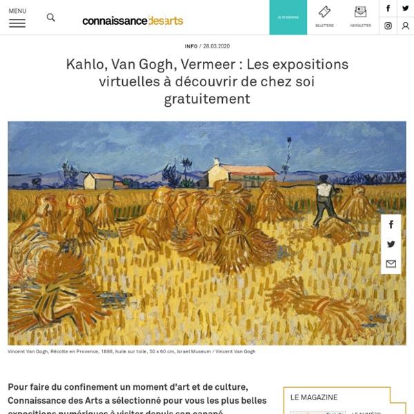 Des expositions virtuelles