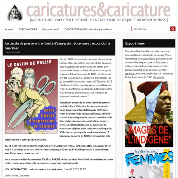 Le dessin de presse face à la censure : exposition -
