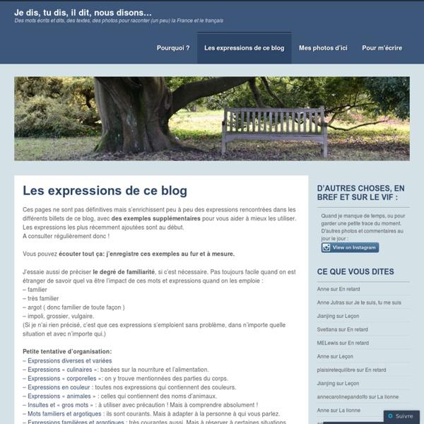 Argot - Expressions familières