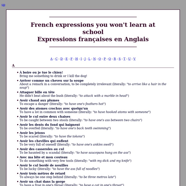 French expressions you won't learn at school