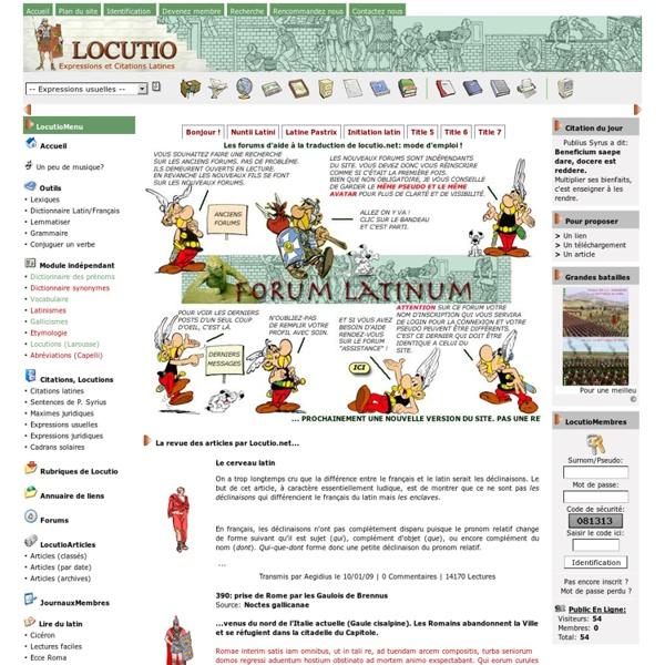Locutio.net : citations, expressions et locutions latines