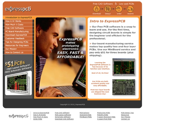 ExpressPCB - Free PCB layout software - Low cost circuit boards - Top quality PCB manufacturing