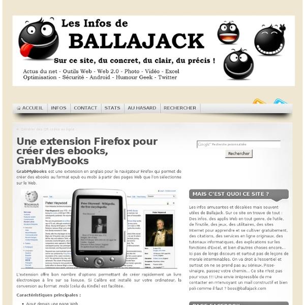 Extension Firefox pour créer des ebooks, GrabMyBooks