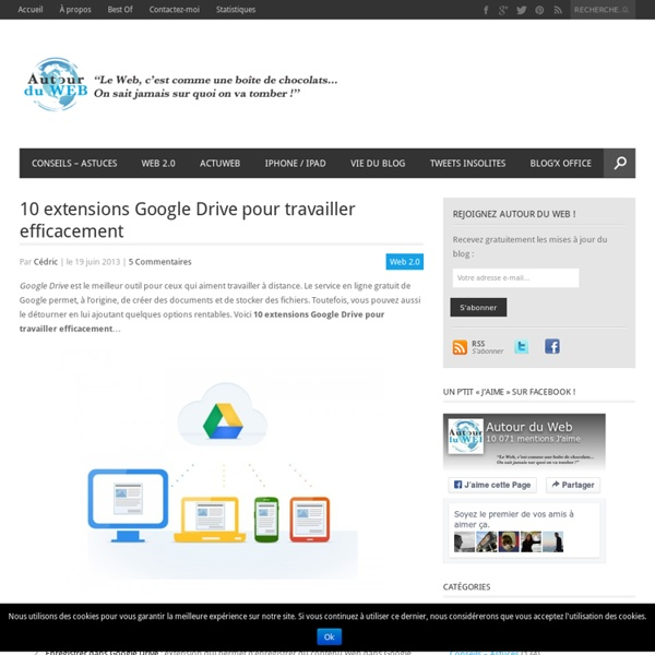 10 extensions Google Drive pour travailler efficacement
