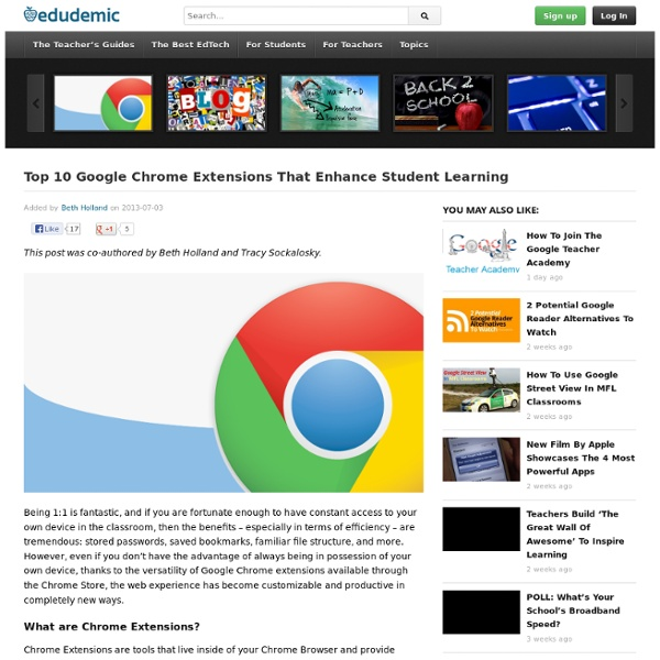 Top 10 Google Chrome Extensions That Enhance Student Learning