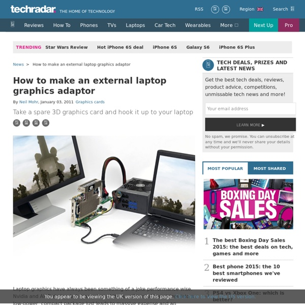 How to make an external laptop graphics adaptor