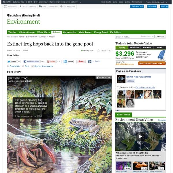 Extinct frog hops back into the gene pool