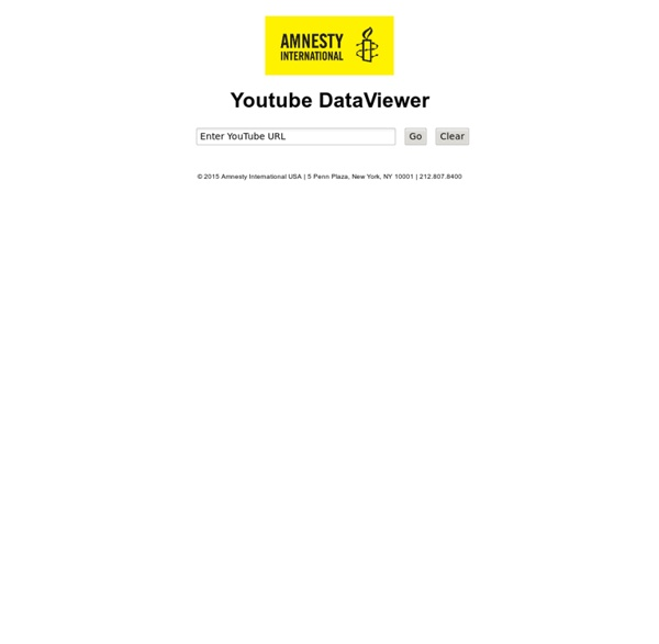 Recherche de vidéos inversée - Extract Meta Data - Amnesty
